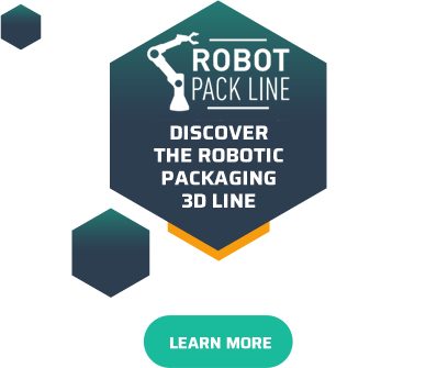 Robot Pack Line - Discover the robotic packaging 3D line